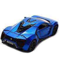 Машинка игровая автопром «Lykan Hypersport» Синяя 14 см (32013), фото 4