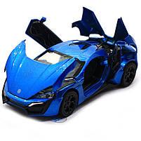 Машинка игровая автопром «Lykan Hypersport» Синяя 14 см (32013), фото 6