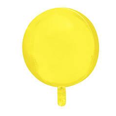"Фол шар 10"" СФЕРА Макарун желтая 25 см (Китай)"