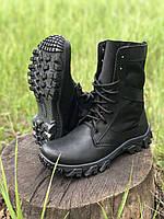Берцы легкие кожаные черные Tornado Лето