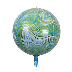 """Фол шар 22"""" СФЕРА Агат зеленый 55 см (Китай)"""