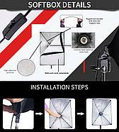 130/1300Вт Набір постійного світла FST 5769 LED softbox Easy Kit Bag, фото 2