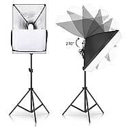 130/1300Вт Набір постійного світла FST 5769 LED softbox Easy Kit Bag, фото 6