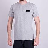 Чоловіча футболка Levi's, кольору бордо, фото 3