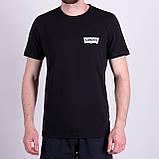 Чоловіча футболка Levi's, кольору бордо, фото 4