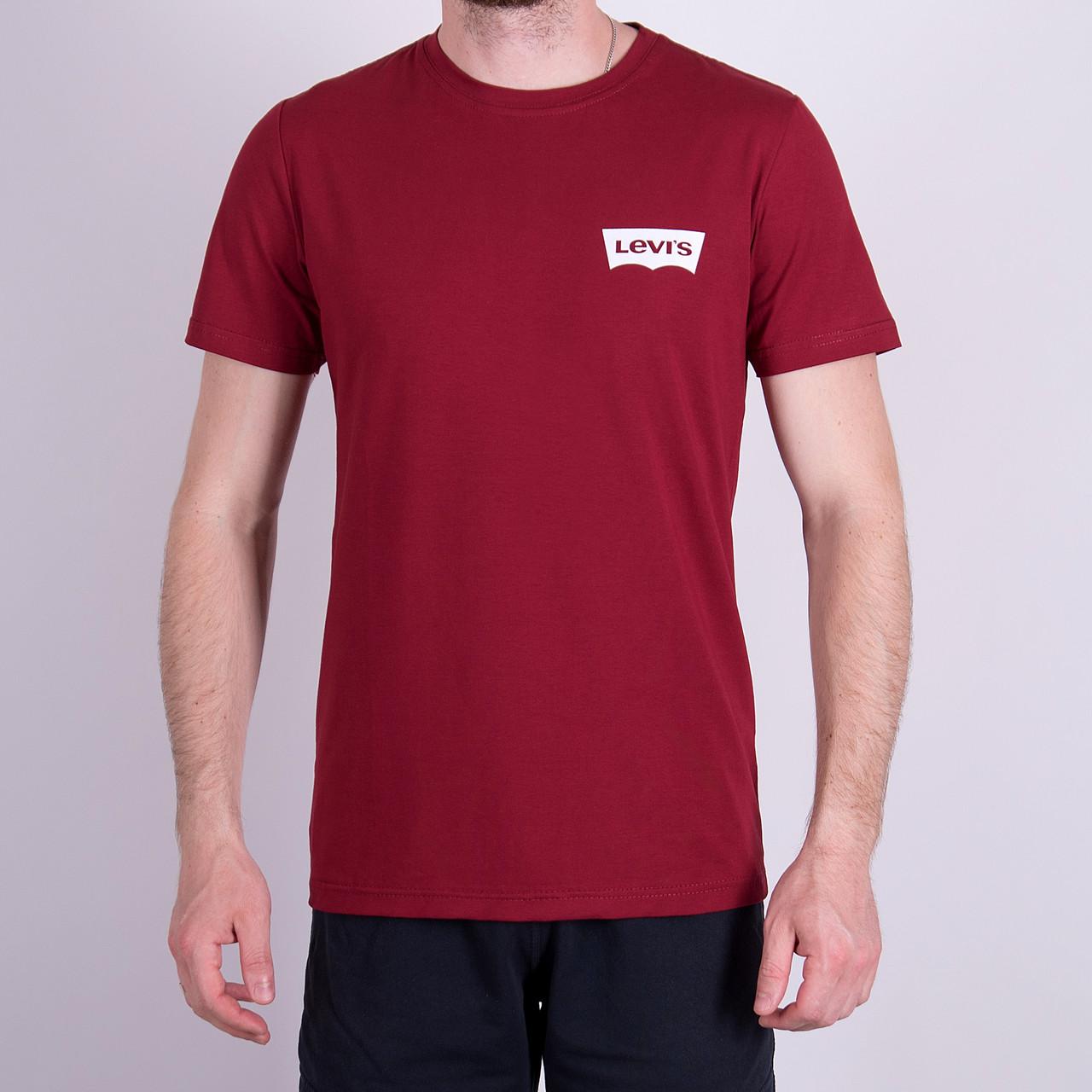 Чоловіча футболка Levi's, кольору бордо
