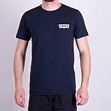 Чоловіча футболка Levi's, кольору бордо, фото 7