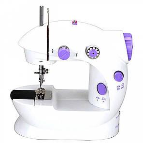 Швейная машинка портативная Mini Sewing Machine Fhsm 202 с адаптером, фото 2