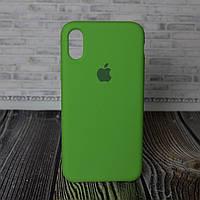 Силиконовый бампер для IPhone X зеленый Original Soft Case