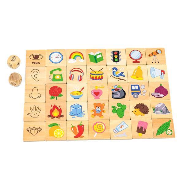 Деревянный пазл-игра Viga Toys Органы чувств (44507)