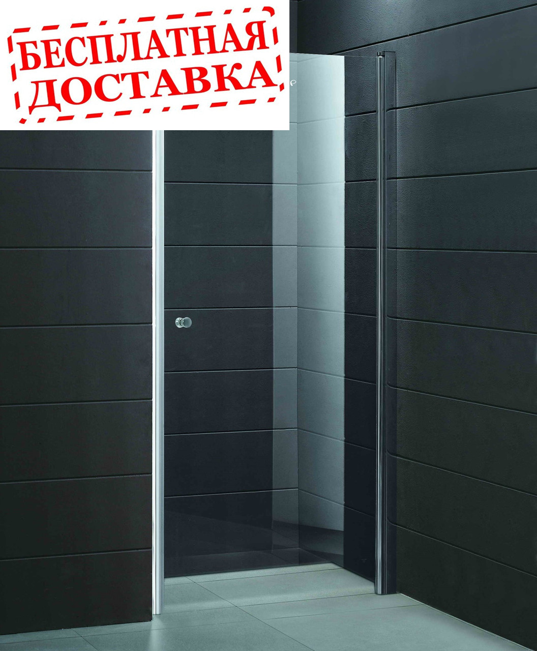 Душевые двери правосторонние PARADISO 90х185 P2151SG-R (коричневые) AK
