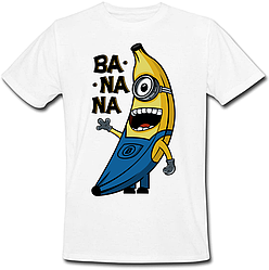 Футболка Fat Cat Миньон - Banana (белая)