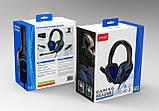 Наушники игровые Гарнитура проводная стерео iPega (PS4/Xbox One/Switch/PC)  Синие, фото 8