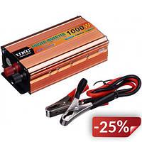 Автомобильный преобразователь напряжения UKC 24-220 V 1000 W + USB (kr-13)