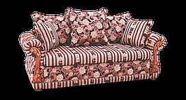 Классический двойной малогабаритный красный диван Мадрид фабрики Нота
