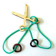 Головоломка веревочная Ножницы Крутиголовка krut0146, КОД: 119956