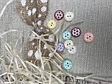Пуговички цветные, 1,4 см, пластик, 10 шт, (10), фото 4