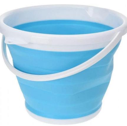 Силиконовое складное ведро на 5 литров Collapsible Bucket, фото 2