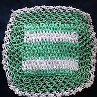 Мочалка вязанная ручной работы (Турция)  мятная