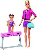 Игровой набор кукла Barbie Gymnastics Coach Барби и Челси Учитель гимнастики SKL52-241127