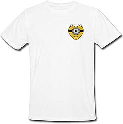 Футболка Fat Cat Миньон - Маленькое сердце (белая)