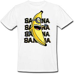 Футболка Fat Cat Миньон - Banana, banana, banana, banana (белая)