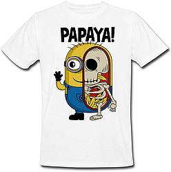 Футболка Fat Cat Миньон - Papaya! (белая)