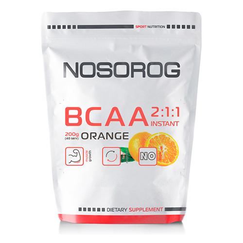 Аминокислоты Nosorog BCAA 2:1:1 апельсин, 200 гр