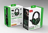 Наушники игровые Гарнитура проводная стерео iPega (PS4/Xbox One/Switch/PC)  Зеленые, фото 7