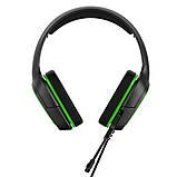 Наушники игровые Гарнитура проводная стерео iPega (PS4/Xbox One/Switch/PC)  Зеленые, фото 2