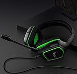 Наушники игровые Гарнитура проводная стерео iPega (PS4/Xbox One/Switch/PC)  Зеленые, фото 4