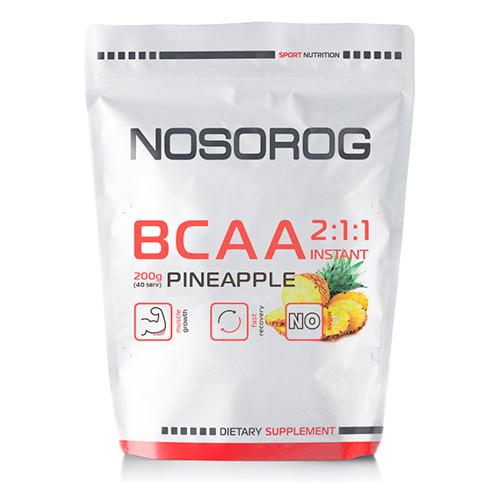 Аминокислоты Nosorog BCAA 2:1:1 ананас, 200 гр