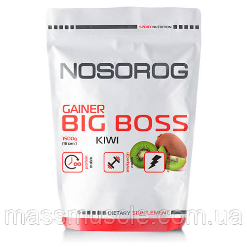 Гейнер Nosorog Big Boss Gainer киви, 1500 гр