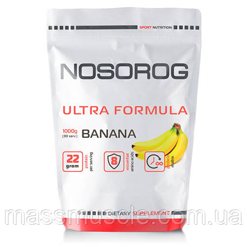 Купити протеїн (суміш сироватковий, казеїн, альбумін) Nosorig Ultra Formula банан, 1 кг
