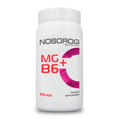 Магний +Б6 Nosorog Mg+B6, 60 капсул