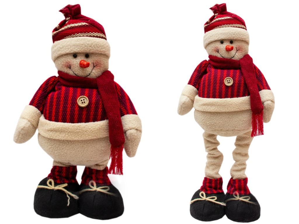 Снеговик с выдвижными ногами 0,5 м, (000234-2)