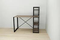 Письменный стол Ferrum-decor c этажеркой 75x120x60 см Дуб Сонома + черный XK00185, КОД: 1778892