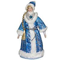 Новогодняя сувенирная фигурка Снегурочка, 28 см, синяя (180486-4)