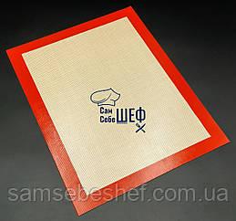 Професійний силіконовий килимок для випічки армований 40*30 GA Династія 21010