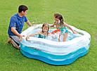 Надувной бассейн 185х180х53 см | Бассейн для детей Intex, фото 2