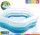 Надувной бассейн 185х180х53 см | Бассейн для детей Intex, фото 3