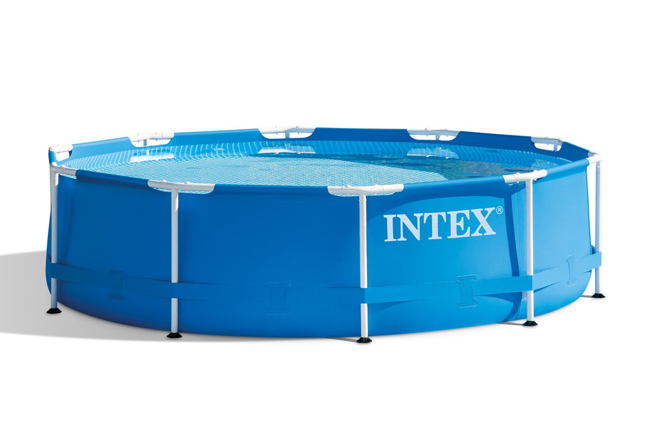 Каркасный бассейн Metal Frame 366х76 см, 6503 л, фильтр-насос 2006 л/ч | Бассейн Intex Frame