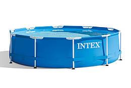 Каркасный бассейн Metal Frame 366х76 см, 6503 л, фильтр-насос 2006 л/ч   Бассейн Intex Frame