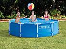 Каркасный бассейн Metal Frame 366х76 см, 6503 л, фильтр-насос 2006 л/ч | Бассейн Intex Frame, фото 5