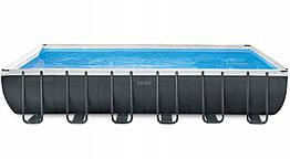 Каркасный бассейн Ultra Frame 732х366х132 см, 31805 л, фильтр-насос 7900 л/ч, лестница, тент, подстилка