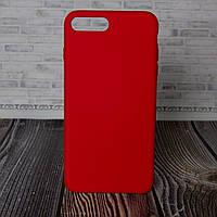 Чехол накладка для IPhone 7 Plus красный Silicone Case