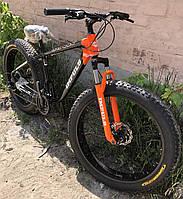 Велосипед алюминиевый внедорожник фэтбайк Key Impuls 26 (fatbike) 2020