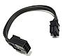Перехідник GPU PCI-E 20 см 8pin на 8 (6+2) 2 pin кабель подовжувач