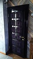 Дверь межкомнатная из МДФ чёрная глянцевая