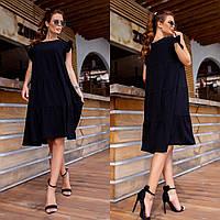 Сукня жіноча з оборками великого розміру